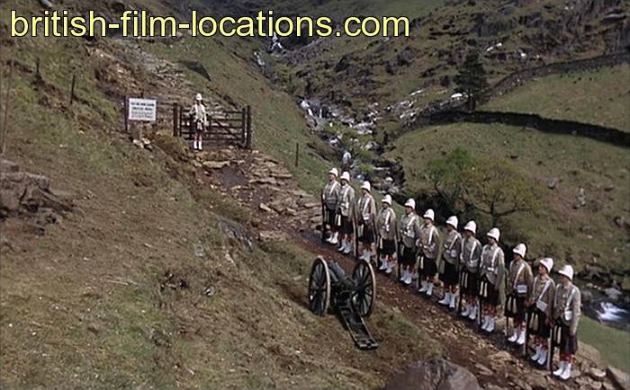 Carry On Up The Khyber scene shot in Wales