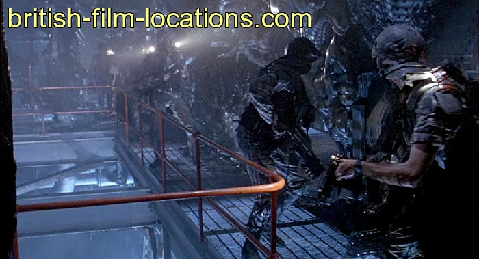 ... location from Aliens (1986) - Atmosphere processing station interior: www.british-film-locations.com/scene-2a/Aliens-1986